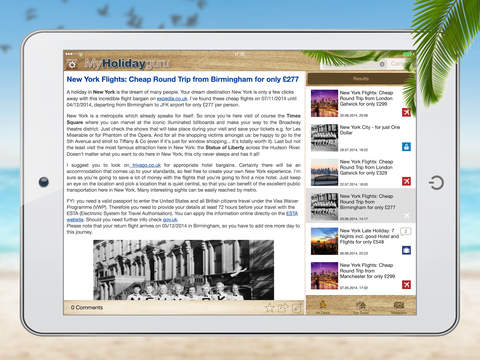 Holidayguru » Travel Deals for Holidays, Flights and Hotels screenshot