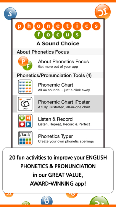 Phonetics Focus iPhone Screenshot 1