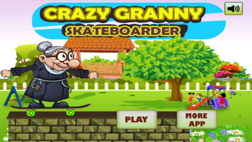 Crazy Angry Granny Run Skateboard Party Pro