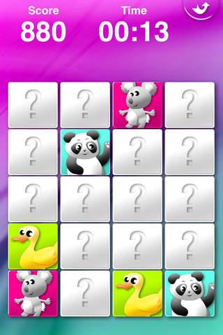 Screenshot 1 Animals' Matching for Kids - Memory Game