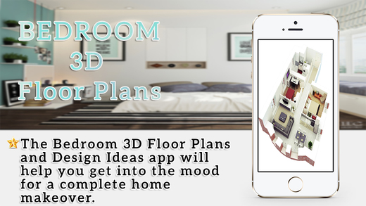 Bedroom 3D Floor Plans Design Ideas