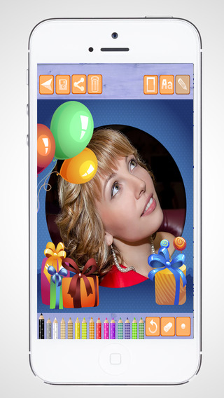 Create birthday cards and design birthday postcards to wish a happy birthday