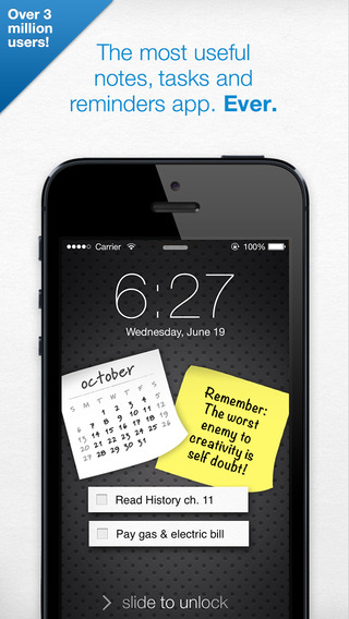 Sticky Notes Pro - with Alarms and Bump™ Sharing iPhone Screenshot 1