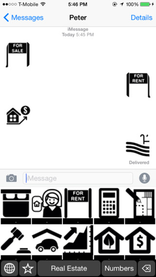 Real Estate Stickers Keyboard: Using Icons to Chat about the Work of Life
