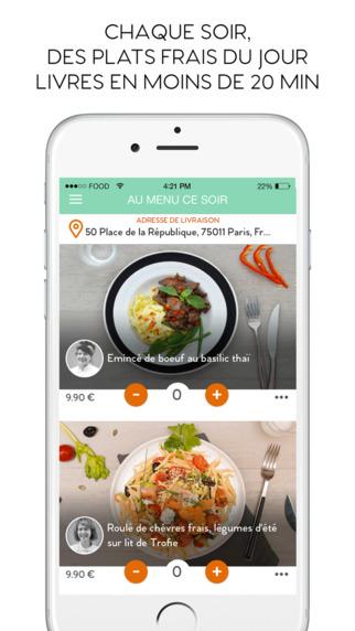 FoodChéri - Livraison de plats frais du jour en moins de 20 min à Paris