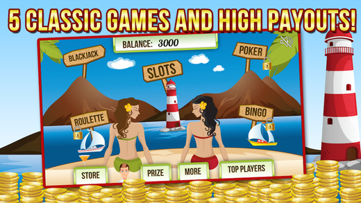 Beach Side Casino : Rule The Roulette Wheel with Slots Blackjack Poker and More