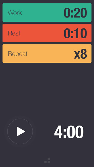 Bit Timer - Simple Interval Timer for HIIT Tabata WOD Running and Circuit Training