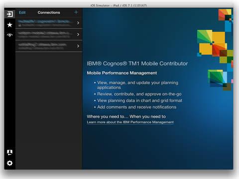 IBM Cognos TM1 Mobile Contributor