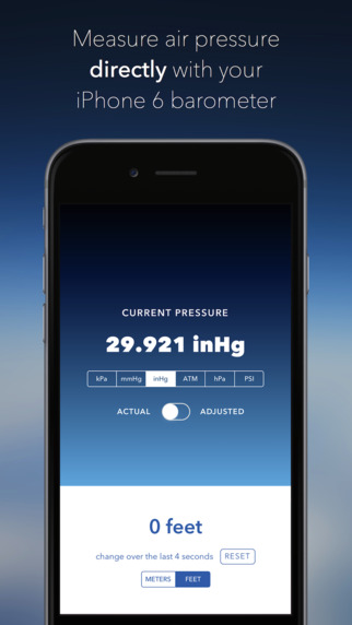 Barometer++ : Simple and Accurate Barometer with Widget for iPhone 6 6 Plus and iPad Air 2