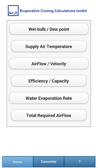 Evaporative Cooling Calculations Toolkit