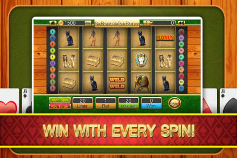 `` Ancient Progressive Casino Of Pharaoh Free screen