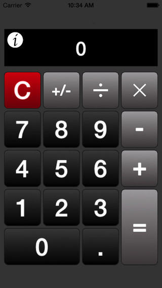 Calculator· - An easy to use calculator for iPhone iPad and iPod Touch