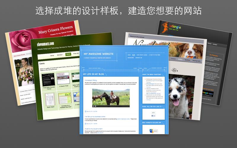 可视化网站设计工具 Sandvox