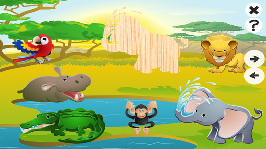 Animated Puzzle With Wild Animals – Search for the right Shadow