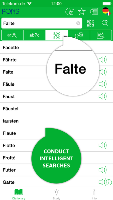 PONS Advanced French <-> German Dictionary iPhone Screenshot 4