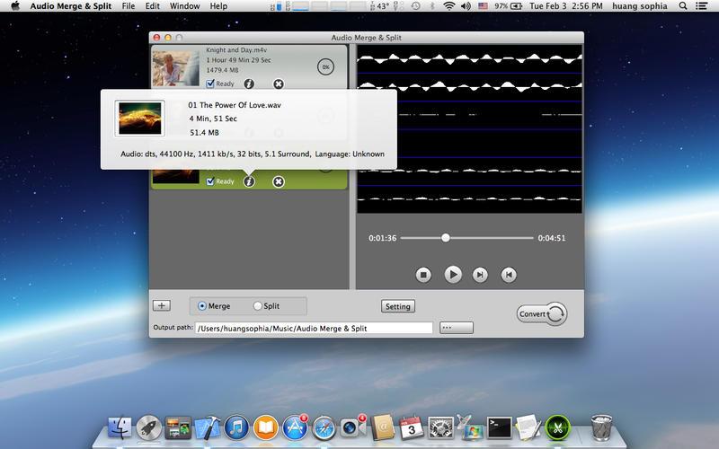 Audio Merge  Split Screenshot - 2