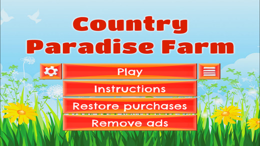 Country Paradise Farm - FREE - Slide Rows And Match Farm Animals Super Puzzle Game