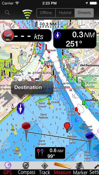 Solent GPS Nautical charts