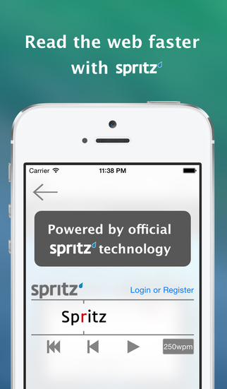 Sprint - Spritz Powered Speed Reading and Audio Browser