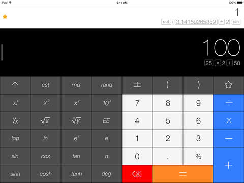Calcbot — The Intelligent Calculator iPad Screenshot 1