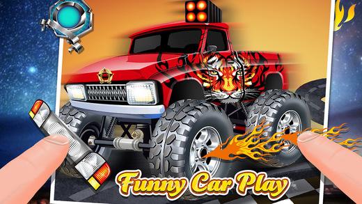 Funny Cars Salon - Creative Kids Design Game