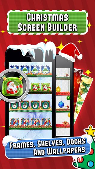 Christmas Screen Builder - Frame Shelf Dock Wallpapers Photo Editor
