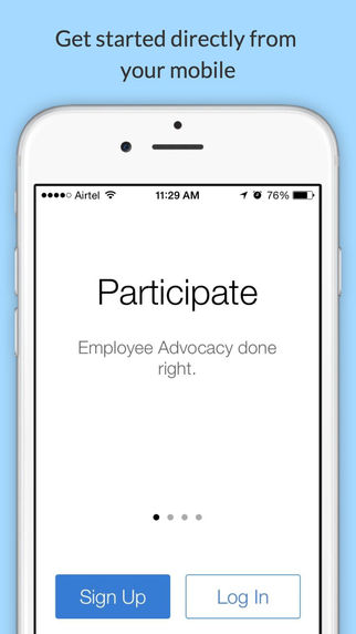 Participate - Employee Advocacy Made Easy