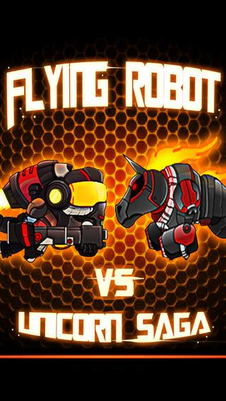 Flying Robot vs. Unicorn Saga PRO