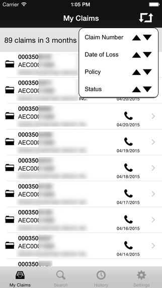 XL Catlin GlobalClaim Customer Portal Mobile