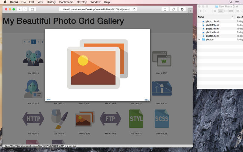 Responsive Photo Grid Screenshot - 2