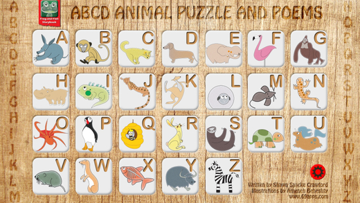 ABCD Animal Puzzle and Poems - Alphabet Game Book for boys girls