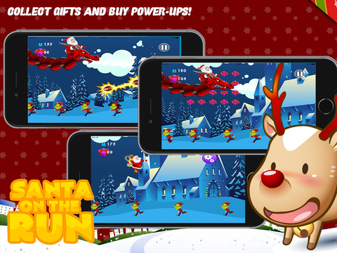 Santa on the Run Free: The Impossible Christmas Mission Game iPad Screenshot 2