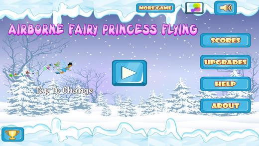 Airborne Fairy Princess Flying : Magic Snowflake Frozen World PRO