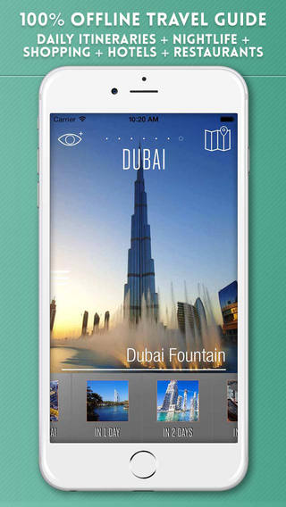 Dubai Travel Guide with Offline City Street and Metro Maps