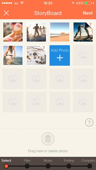 SlideStory -  充滿回憶的相片製作出發送朋友結婚祝賀、情侶約會的甜蜜回憶小短片和家裏的寵物成長記録的微電影 攝影 App-愛順發玩APP