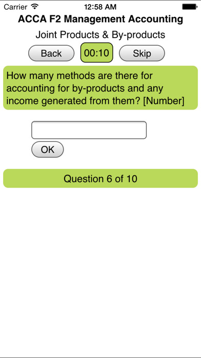ACCA F2 Management Accounting iPhone Screenshot 4
