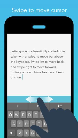 Letterspace – Swipe. Edit. Note.