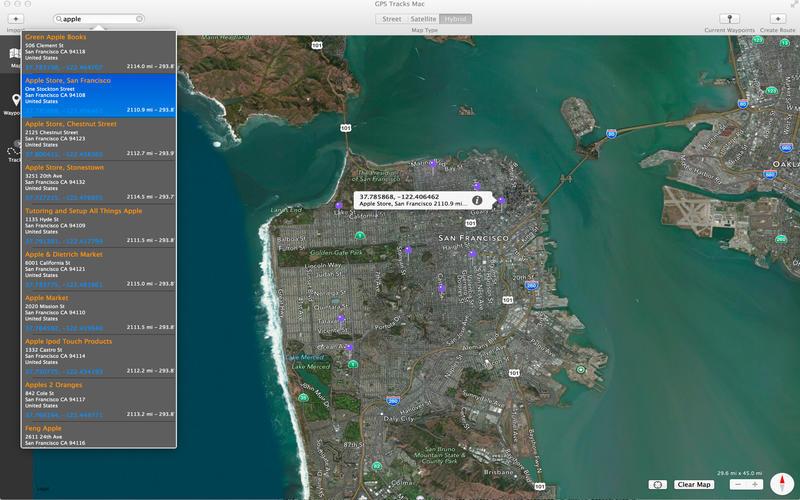GPS Tracks Screenshot - 2