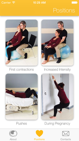 Birth - Soothing positions