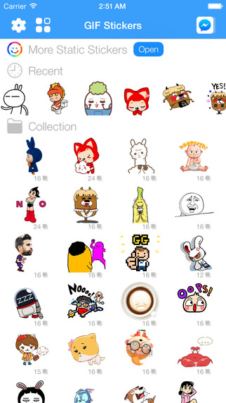 GIF Stickers Animated Emoticons for Facebook Messenger