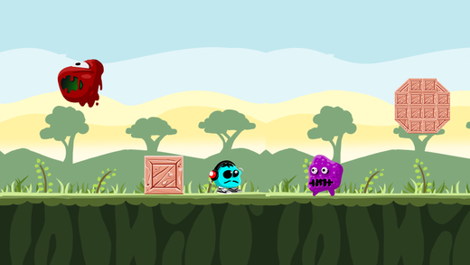Super Blue Dot - Happy Platformer Sprints Game