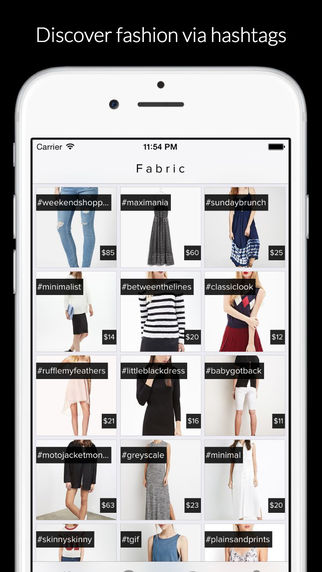 Fabric - Shop Fashion via Hashtags + Sale Alerts
