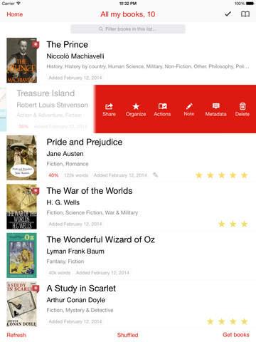 Marvin - eBook reader for epub Screenshot