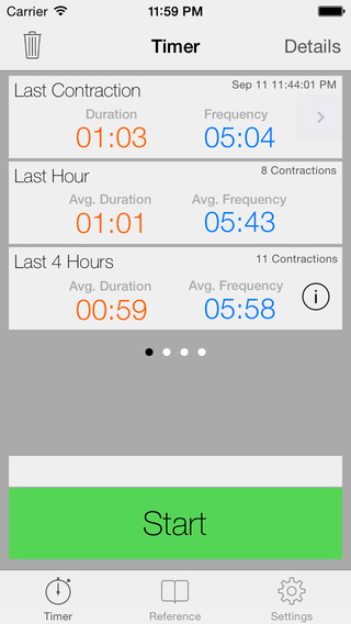 Full Term - Labor Contraction Timer Counter Tracker