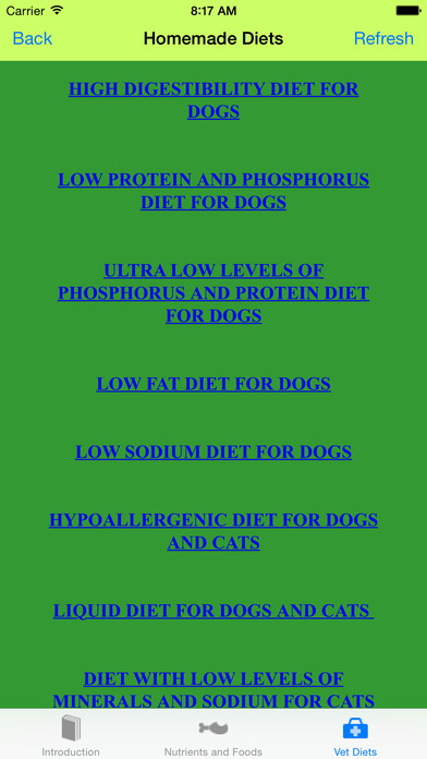 IVet Nutrition Homemade Vet Diets iPhone Screenshot 2