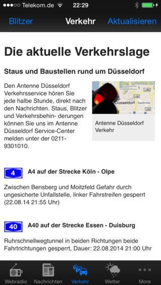 Antenne Düsseldorf iPhone Screenshot 2
