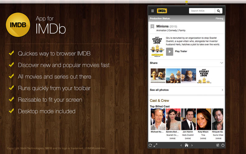 App for IMDB Screenshot - 1
