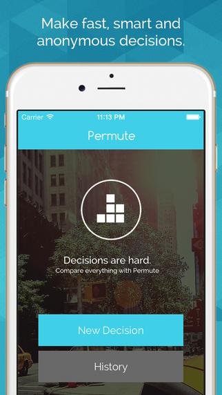 Permute - Social decision making by comparison and anonymous poll