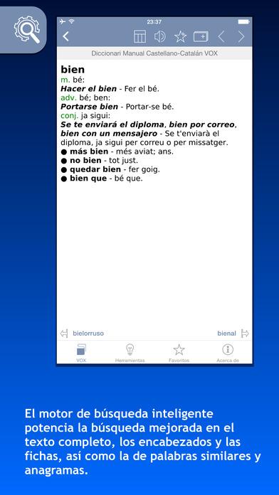 VOX Catalan <-> Spanish Dictionary iPhone Screenshot 1
