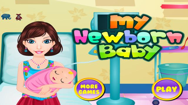 My newborn baby - Girls games